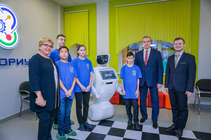 Встреча с Губернатором Иркутской области в детском технопарке «Кванториум Байкал»